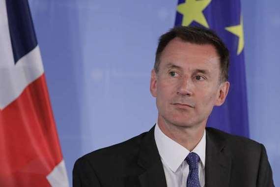 جيرمي هانت   وزير الخارجية البريطاني