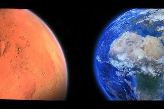 المريخ والارض