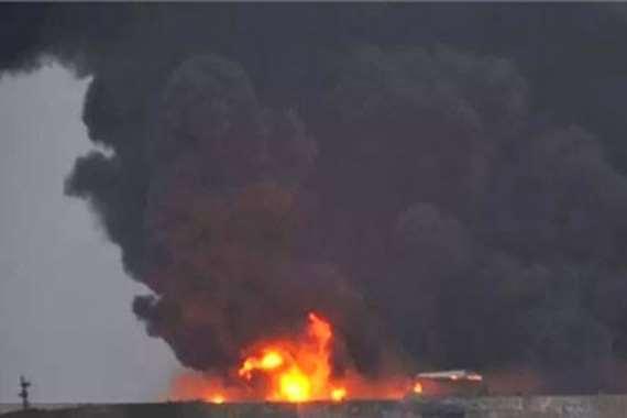 انفجار ناقلة نفط إيرانية