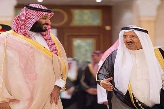 أمير الكويت وبن سلمان