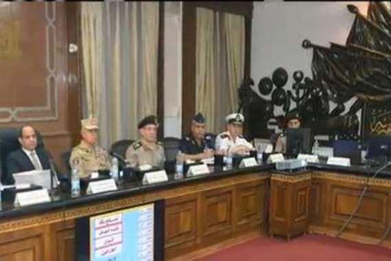 الرئيس يشهد اختبار الهيئة للمتقدمين للكلية الحربية