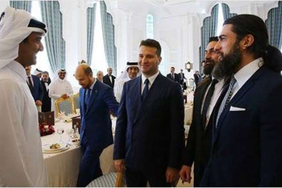 """أمير قطر يستقبل أبطال مسلسل""""أرطغرل"""""""
