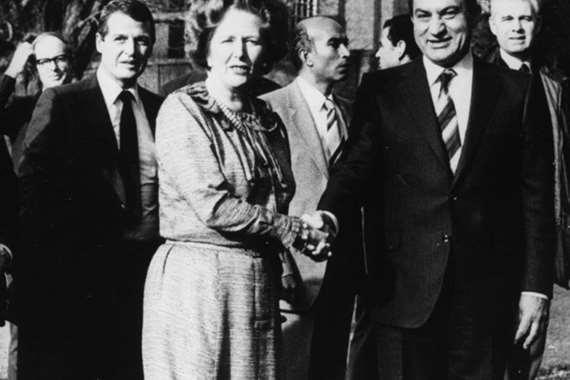 زيارة مبارك لبريطانيا