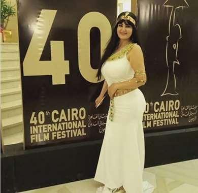 شاهد.. سما المصري في  الدورة الـ 40 من مهرجان القاهرة السينمائي الدولي
