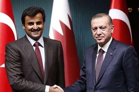 رجب طيب أردوغان وتميم بن حمد آل ثاني