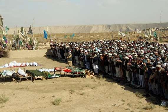 الصلاة على ضحايا غاراة أمريكية بأفغانستان