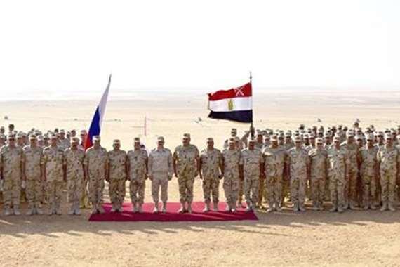 جانب من التدريب المصري الروسي