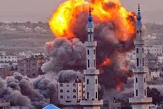 90 غارة إسرائيلية على غزة