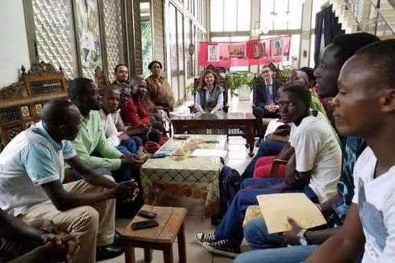 الطلبة البورونديين