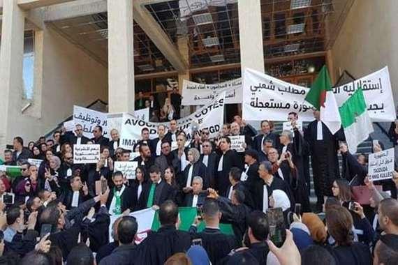 القضاة المعتصمين في الجزائر