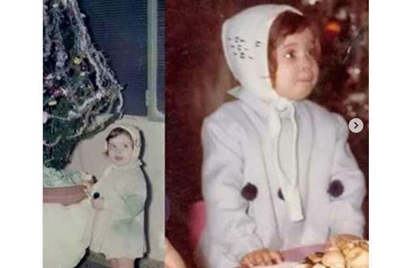 دينا في طفولتها