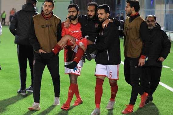 إصابة وليبد سليمان في مباراة شبيبة الساورة الجزائري