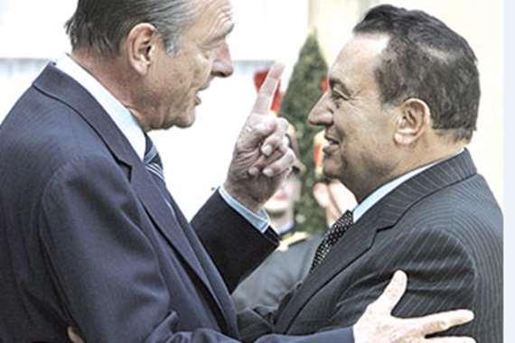 مبارك وميتران