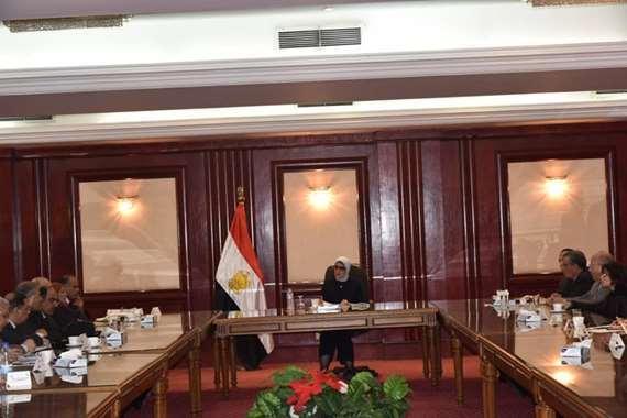 وزيرة الصحة خلال الاجتماع