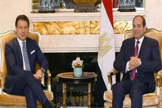 الرئيس السيسي يستقبل رئيس وزراء إيطاليا