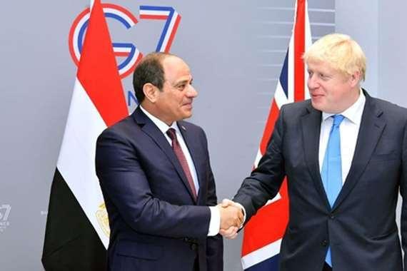 السيسي ورئيس وزراء بريطانيا