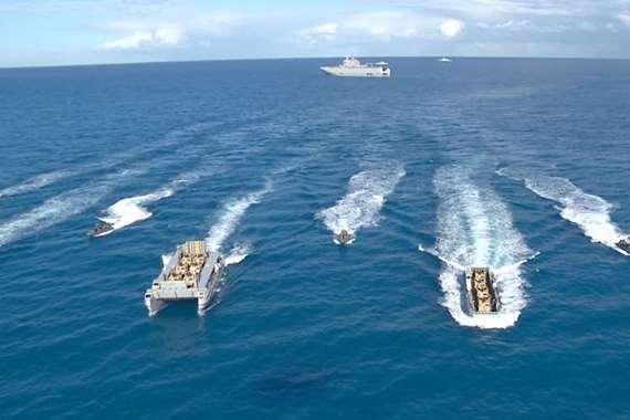 الجيش المصري ينفذ عملية برمائية في البحر المتوسط