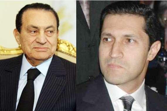 علاء مبارك ووالده