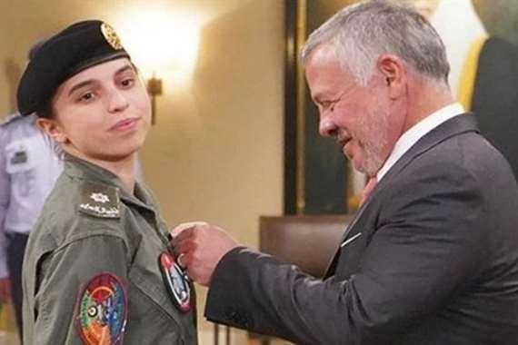 وسام من الملك عبد الله لابنته