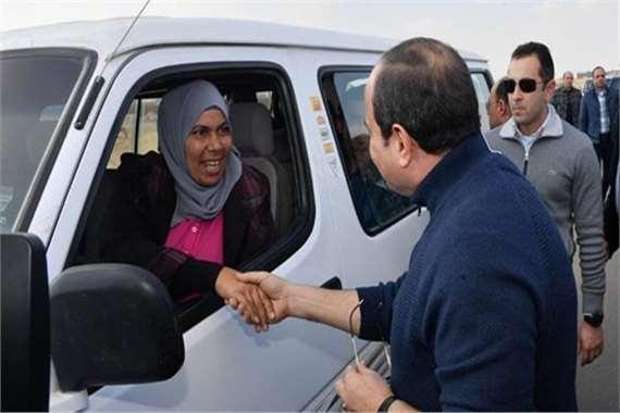 نحمده مع الرئيس السيسي