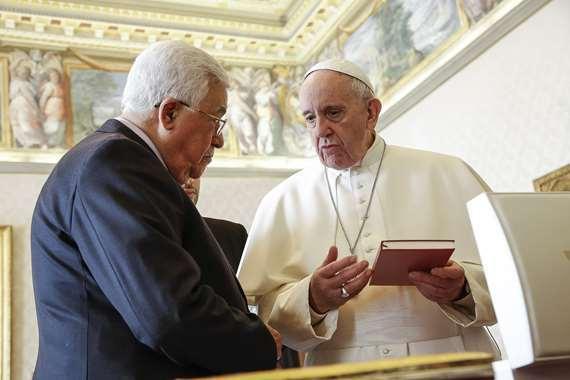 الرئيس الفلسطيني وبابا الفاتيكان