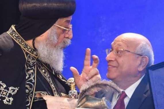 البابا تواضروس والراحل سمير سيف