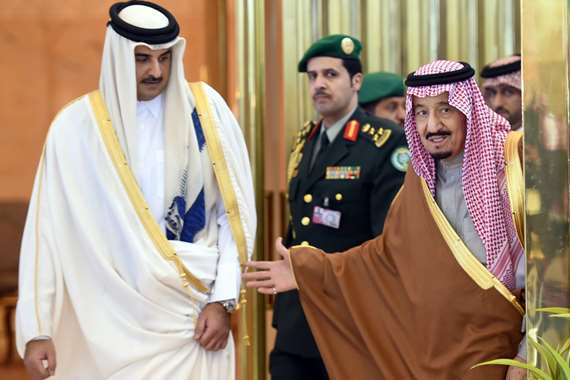 الملك سلمان وامير قطر