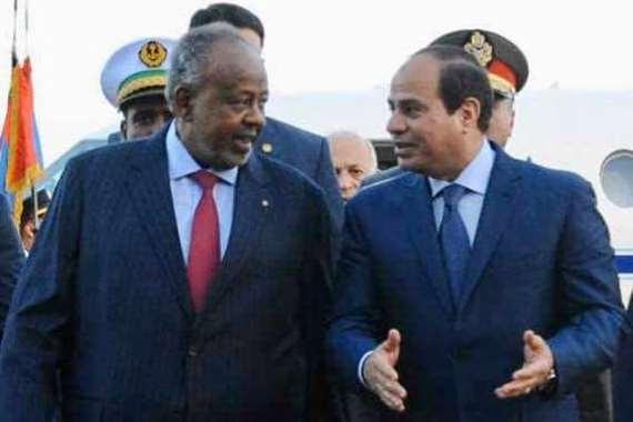 الرئيس السيسي ونظيره الجيبوتي