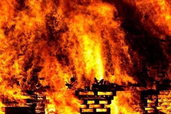 حريق مصنع السيراميك في السودان