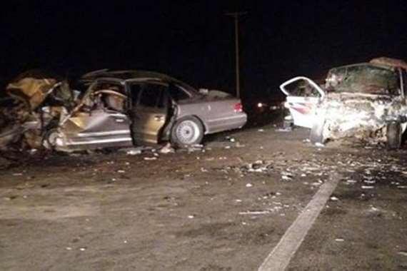 حادث تصادم سيارتين-ارشيفية