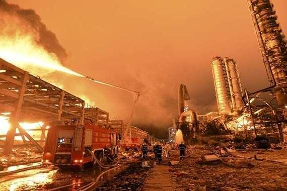 انفجار  فى الصين