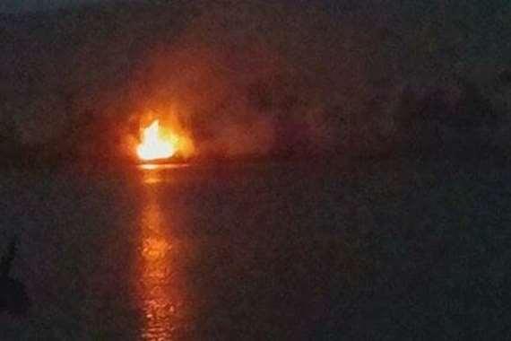 حريق بزراعات جزيرة راجح