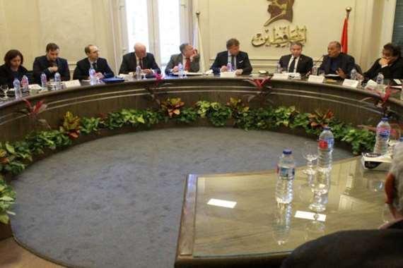 اجتماع نادي الأحزاب الدستورية مع سفراء الاتحاد الأوروبي