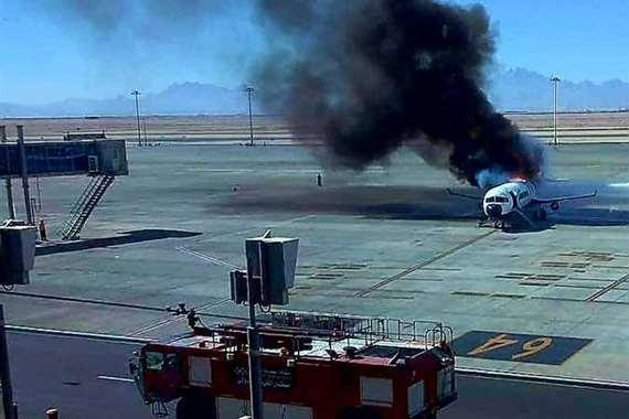 سيناريو إحراق طائرة ركاب
