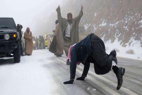 ثلوج في السعودية