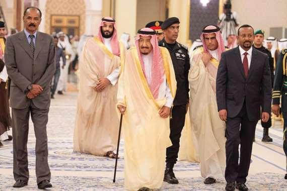 الملك سلمان وآبي أحمد