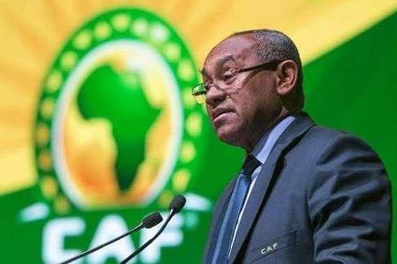 رئيس الاتحاد الافريقي لكرة القدم احمد احمد