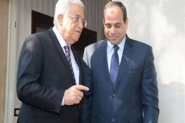 """""""السيسي وأبو مازن"""" يبحثان التطورات على الساحة الفلسطينية السبت"""