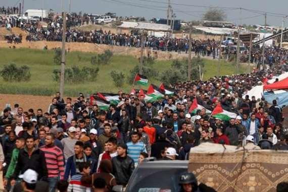 مسيرة العودة الكبرى في غزة
