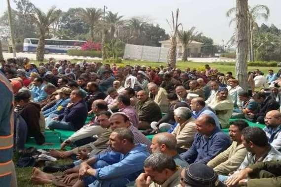 اعتصام   عمال الاسمنت