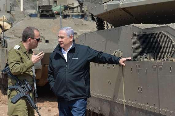 نتنياهو على حدود غزة