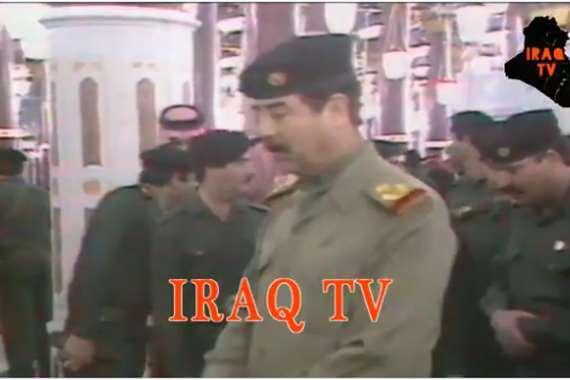 صدام حسين بالمسجد النبوي