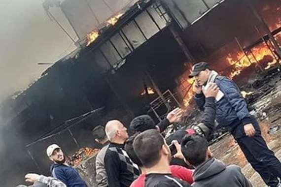 بالصور.. 50 مصابا انفجار ضخم يهز غزة