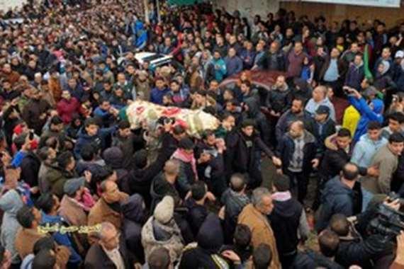 موكب جنائزي مهيب لضحايا انفجار غزة