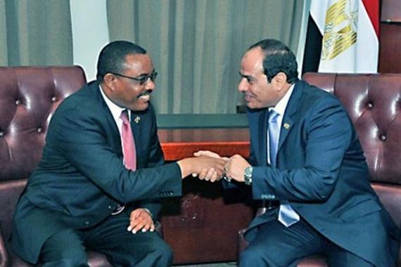 الرئيس السيسي مع وزير خارجية أثيوبيا