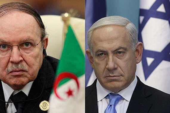 رئيس الوزراء الإسرائيلي بنيامين نتنياهو والرئيس الجزائري عبدالعزيز بوتفليقة