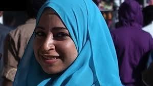 ميادة  اشرف تعود إلى  جدران  الصحفيين  بجرافيتى