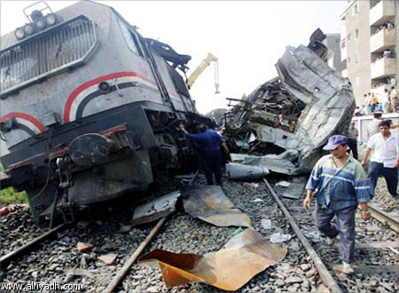 حبس عاملى المزلقان على خلفية حادث قطار أسيوط