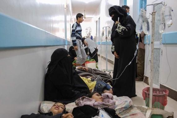 124 وفاة بسبب الكوليرا في اليمن