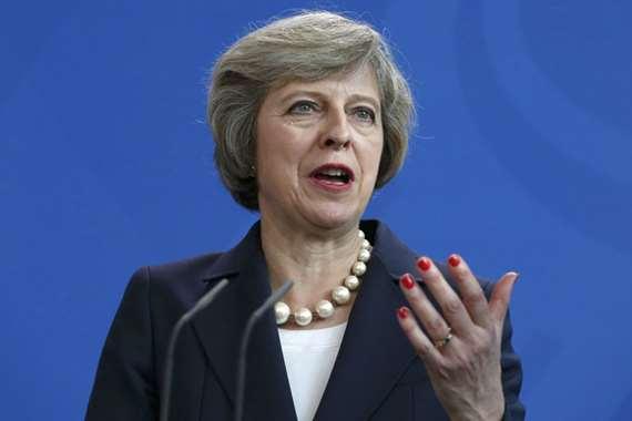 رئيسة الوزراء البريطانية تريزا ماي